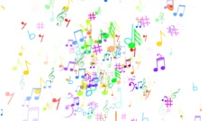 Abstract Background with Music notes. The label notes - stock footage