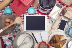 food tablet hero header - stock photo