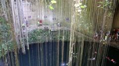 Ik-Kil Cenote, Chichen Itza, Mexico Stock Footage