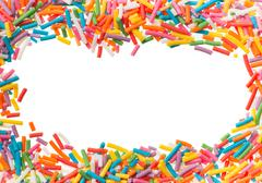 Confectionery confetti for food decoration background Stock Photos