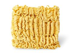 Noodles of fast preparation vertically - stock photo