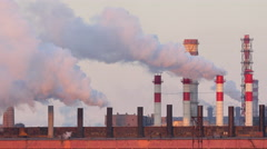 Air pollution power plant. Stock Footage