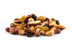 Mix nuts and dry fruits Stock Photos
