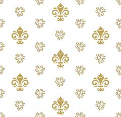 Stock Illustration of Seamless Vector Pattern With Royal Lily