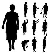 Vector silhouette of a woman. Stock Illustration