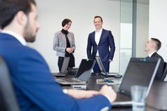 Corporate business team office meeting. Kuvituskuvat
