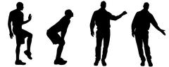 Vector silhouettes of gay. Stock Illustration