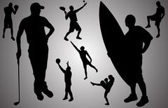 Vector silhouette of people. Piirros