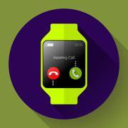 Modern smart watch icon. Flat design style Stock Illustration