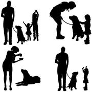 Vector silhouette of a family. Stock Illustration