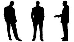 Vector silhouette of businessman. Stock Illustration