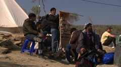 Refugees at Lesbos Greece Stock Footage