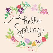 Cute spring frame Stock Illustration