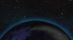 HD 1080 - Zoom out earth (through clouds to the space) - stock footage