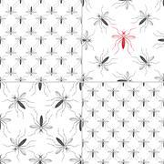 Zika virus graphic design elements. - stock illustration