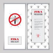 Zika virus graphic design elements. Stock Illustration