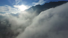 Aerial Footage: Flight through clouds in Central Switzerland, 4K, UHD Stock Footage