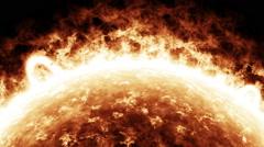 Sun surface close-up - stock footage