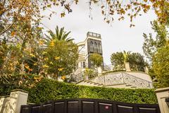 Michael Jackson's home California Dream Houses Beverly Hills Stock Photos