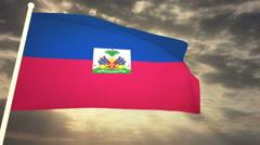 Flag Haiti - stock footage