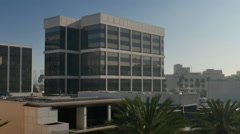 Typical Los Angeles Office Building Establishing Shot Stock Footage
