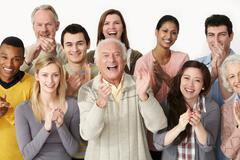 Group of people clapping - stock photo