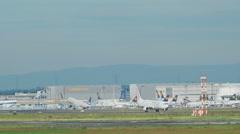 Traffic at Frankfurt airport Arkistovideo