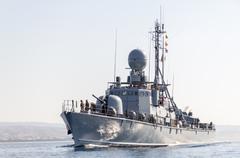 german speedboat from the navy - stock photo