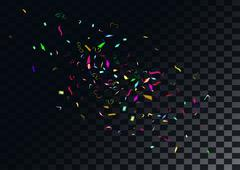 Stock Illustration of Abstract colorful confetti background. Isolated on the transparent background
