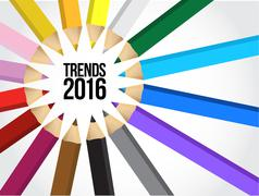 2016 trends multiple colors - stock illustration