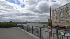 River Thames seen from Westferry Circus in London Stock Footage