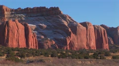 Imposing red colored cliffs - stock footage