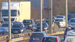 Fixed speed camera on highway in France - timelapse Stock Footage