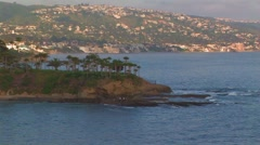 Coastal view of Laguna Beach Stock Footage