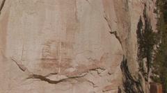 Zoom into petroglyphs Stock Footage