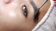 Eyebrows design treatment  Stock Footage