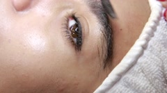 Cosmetic eyebrows treatment  Stock Footage