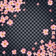 Abstract background with beautiful pink cherry blossom. - stock illustration
