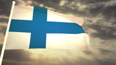 Flag Finland Stock Footage