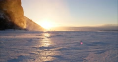 Golden Hour In Iceland Stock Footage