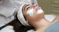 Cosmetic facial cleaning treatment  Stock Footage