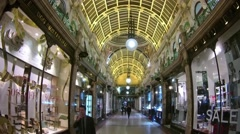 Queen's Arcade Shopping Centre, Leeds - stock footage