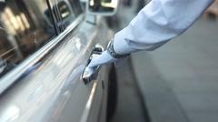 Human Hand Opening Car Door Stock Footage