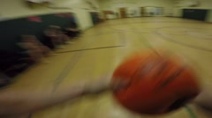 Point of View Sports - chest mounted GoPro - Dodgeball Stock Footage