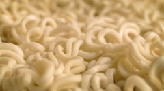 Noodles Moving Around Closeup - stock footage
