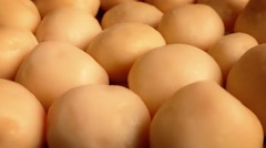 Golden New Potatoes Rotating Stock Footage