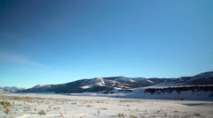 Lamar Valley landscape shot Stock Footage