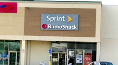 Sprint, Radio Shack, storefront merger Stock Footage