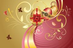Decorative Easter Background - stock illustration