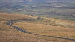 Penrith England beautiful hills road north 4K Stock Footage